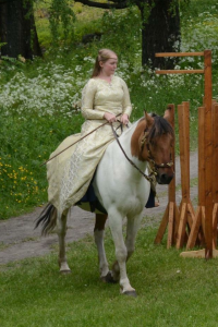 Me and Bastian playing princess at Hamar Medieval Fetival