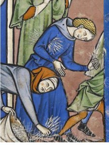 Image from the  the Maciejowski Bible http://www.themorgan.org/collection/crusader-bible/34